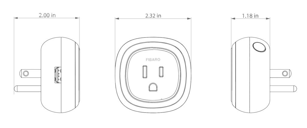 Fibaro Wall Plug, NCR Home Automation